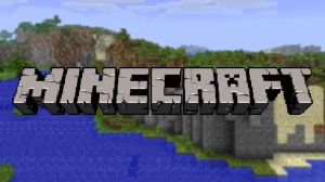 Minecraft written on a screenshot from Minecraft