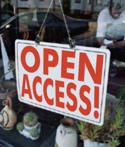 "A sign saying, ""Open Access!"""
