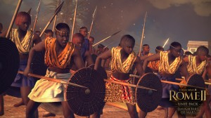 Warrior women line up with spears in Total War: Rome 2